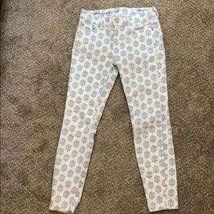Vineyard Vines Women's Pants - White/Blue Pattern